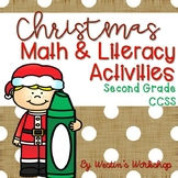 Christmas Literacy and Math Activities - Second Grade