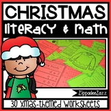 Worksheets for Christmas ELA Literacy and Math Activities