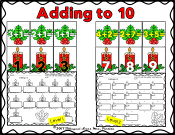Christmas Literacy and Math Activity Centers Pack for December Partida