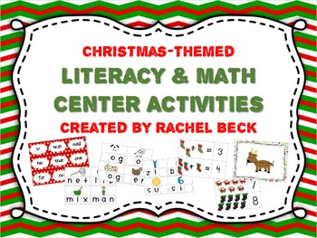 Christmas Literacy and Math Center Activities