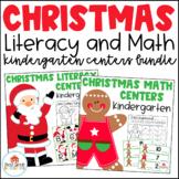 Christmas Literacy and Math Centers Kindergarten Bundle