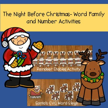 Christmas Literacy and Math Centers for Kindergarten