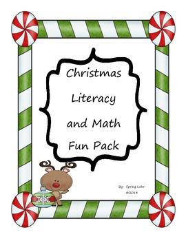 Christmas Literacy and Math Fun Pack