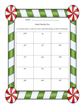 Christmas Literacy and Math Fun Pack