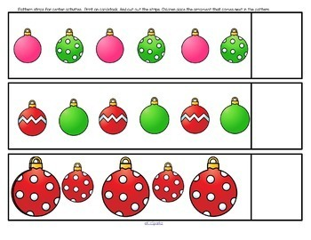 Christmas Literacy and Numbers Activities and Centers for Preschool and Pre-K