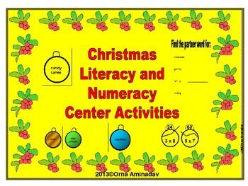 Christmas Literacy and Numeracy Center Activities