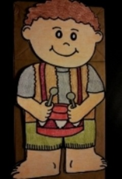Christmas Little Drummer Boy Paper Bag Puppet