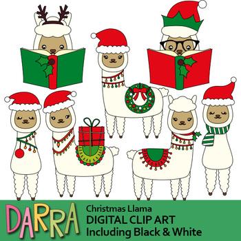 Christmas Llama Clip Art