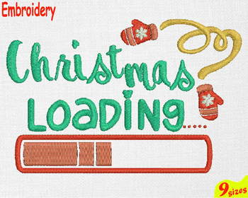 Christmas Loading Designs for Embroidery Machine 4x4 5x7 hoop holiday xmas 111b