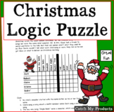 Christmas Activities Logic Puzzle for Gifted and Talented