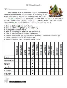 Christmas Logic Puzzle 3-Pack
