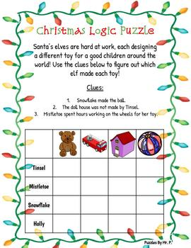 Christmas Logic Grid Puzzle