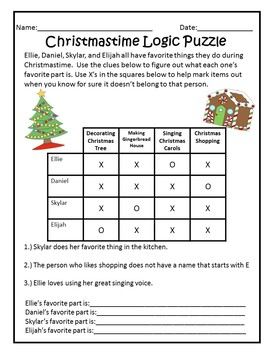Luscious image intended for christmas logic puzzle printable