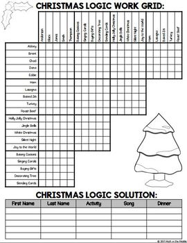 image regarding Christmas Logic Puzzles Printable named Xmas Logic Puzzle for Centre Higher education - Xmas Math Match