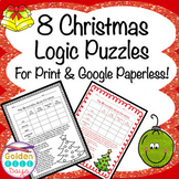 Christmas Logic Puzzles for Print and Google Paperless! Great for Enrichment!