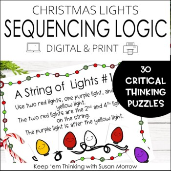 Math Logic Puzzles: Christmas Logic With a String of Lights