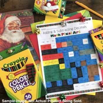 Christmas: Long Division Pixel Art Mystery Pictures