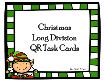 Christmas Long Division QR Cards