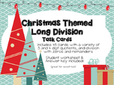 Christmas Long Division Task Cards