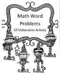 Christmas Long Division Word Problems Activity