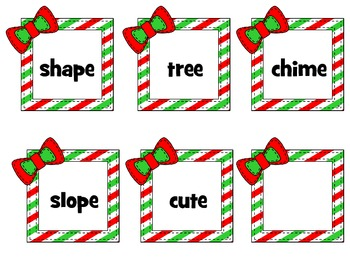 Christmas Long Vowel Sort