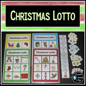 Christmas Lotto Game Bingo