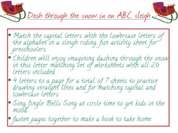 Writing Lower & Uppercase Letters for Christmas