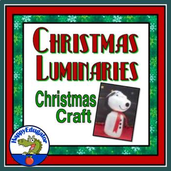Christmas Craft - Making Luminaries