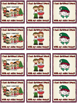Christmas Lunch: Name Tags for Parents