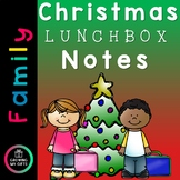 Christmas Lunchbox Notes - EDITABLE