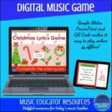 Christmas Lyrics Game | Digital Music Game