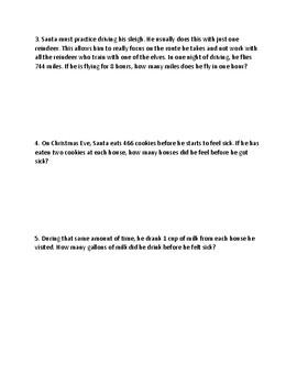 Christmas M-STEP Performance Tasks Pack of 4