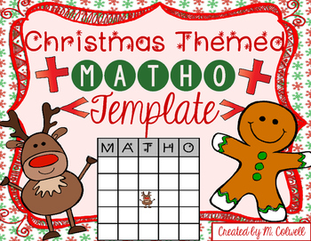 Christmas MATHO Template 3 Sizes & 2 Designs!