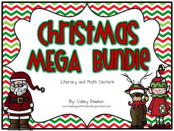 Christmas MEGA Bundle (Literacy and Math Centers)
