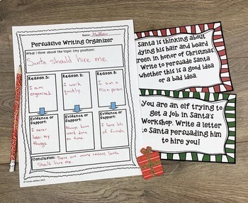 Christmas Reading Writing and Math Activities Grades 3-5