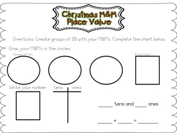 Christmas M&M Fun-A Place Value and Graphing Activity