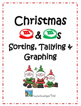 Christmas M&M Sorting, Tallying & Graphing Center