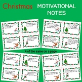 Christmas MOTIVATIONAL NOTES For Your Students