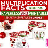 Christmas MULTIPLICATION FACTS Paperless + Printable Secre