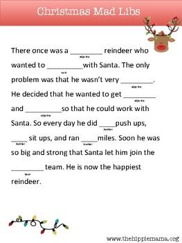 Christmas Mad Lib