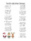 Christmas Mad Lib: 'Twas the Night Before Christmas