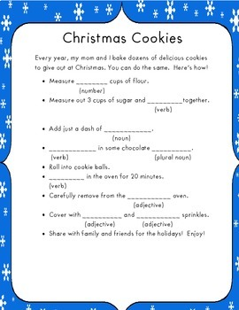 Christmas Mad Libs!!
