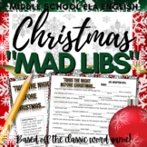 "Christmas Activity: ""Mad Libs"" Writing"