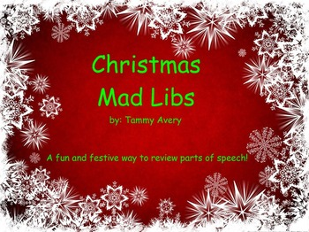 Christmas Mad Libs for Smartboard