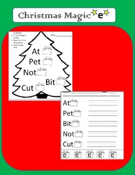 Christmas Magic E--Turn short vowels into long vowels