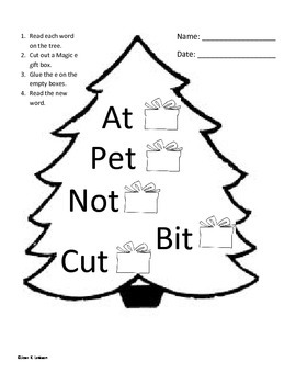Christmas Magic E--Turn short vowels into long vowels