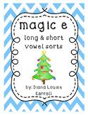Christmas Magic e all long and short vowel sorts