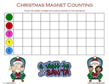 Christmas Magnet Counting