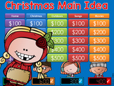 Main Idea Christmas Jeopardy Style Game Show