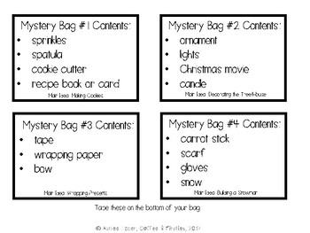 Christmas Main Idea Mystery Bags